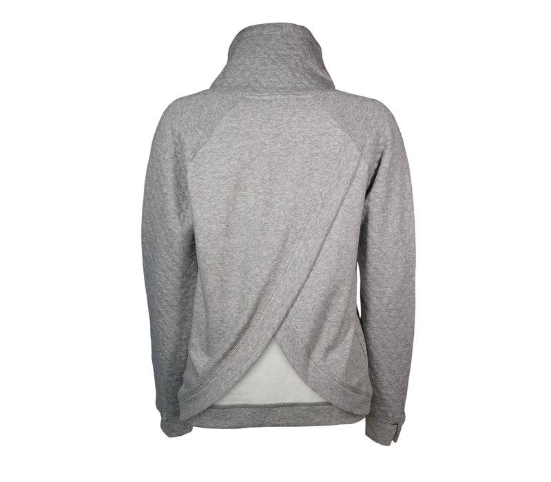 Womens Grey Vega Half Back Sweater