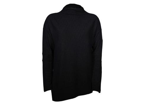 Levelwear Womens Embroidery Black Lana Sweater