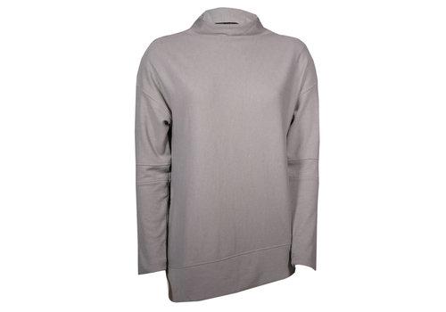 Levelwear Womens Embroidery Grey Lana Sweater