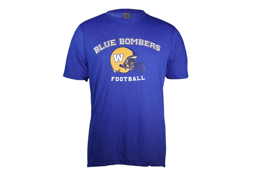 Blue Bombers Brand Royal Arched Blue Bombers Helmet Tee