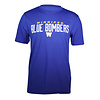 Blue Bombers Brand Royal Blue Bombers Over W Tee