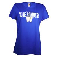 Ladies FOTL Royal Blue Bombers Over W Tee