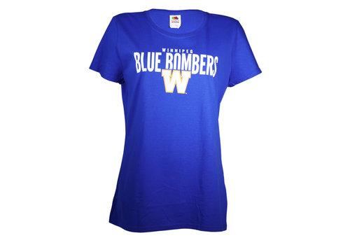 Blue Bombers Brand Ladies FOTL Royal Blue Bombers Over W Tee