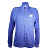 Levelwear Womens Full Zip Heather Royal Embroidery Crew