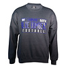 Blue Bombers Brand Charcoal Grey Blue bomber crew neck