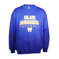 Royal Blue Bombers Football Crewneck Sweatshirt