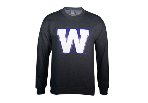 Blue Bombers Brand Dark Heather Primary W Crew Neck Sweatshirt