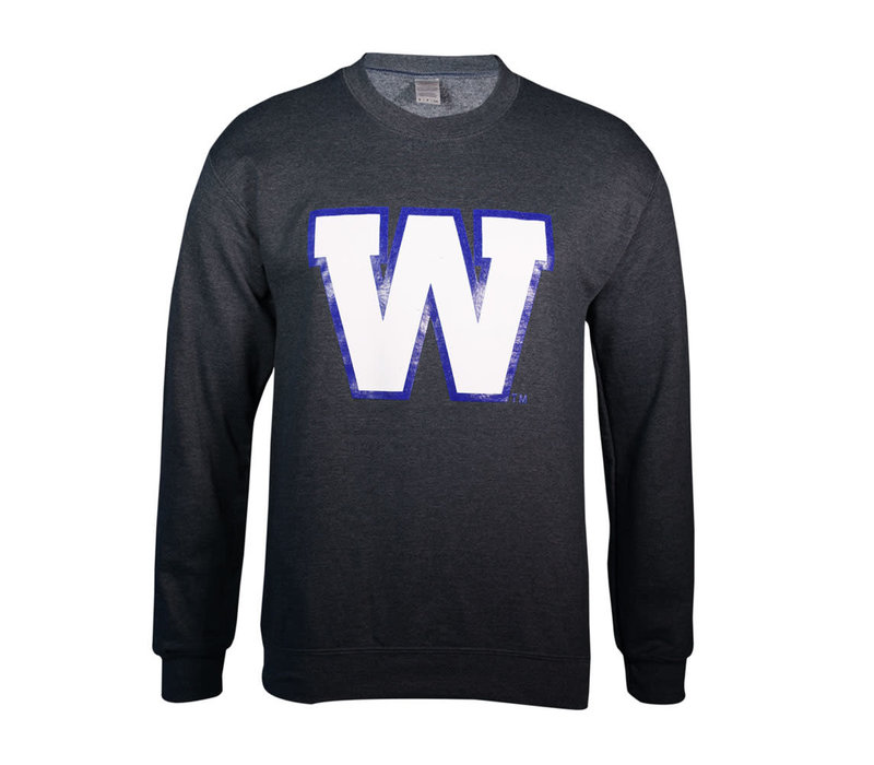 Dark Heather Primary W Crew Neck Sweatshirt