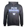 Blue Bombers Brand Dark Heather Blue Bomber Football Hoodie