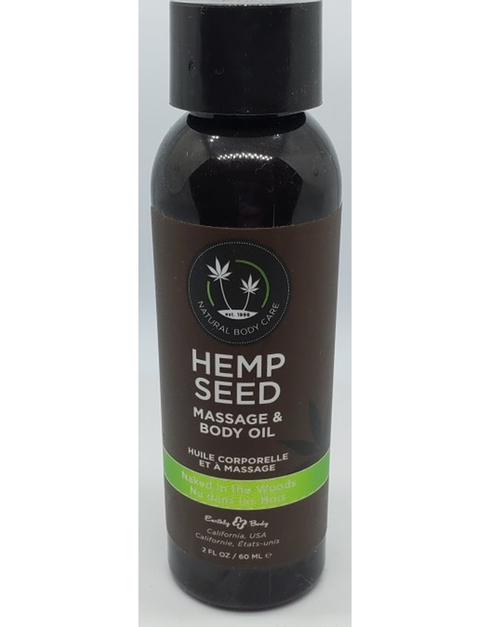 EARTHLY BODY HEMP SEED MASSAGE AND BODY OIL NAKED IN THE