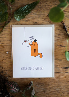 James the Cat Graduation Clever Cat - James The Cat