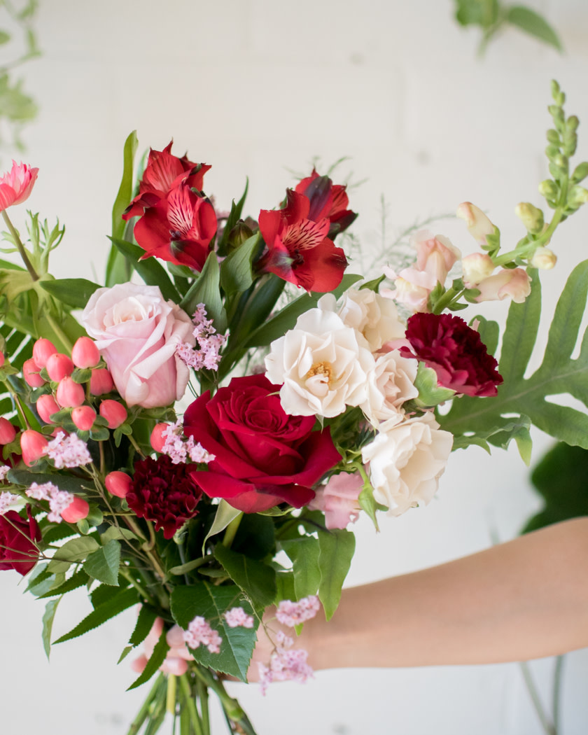 Queen of Hearts - Small Wrapped Bouquet-3