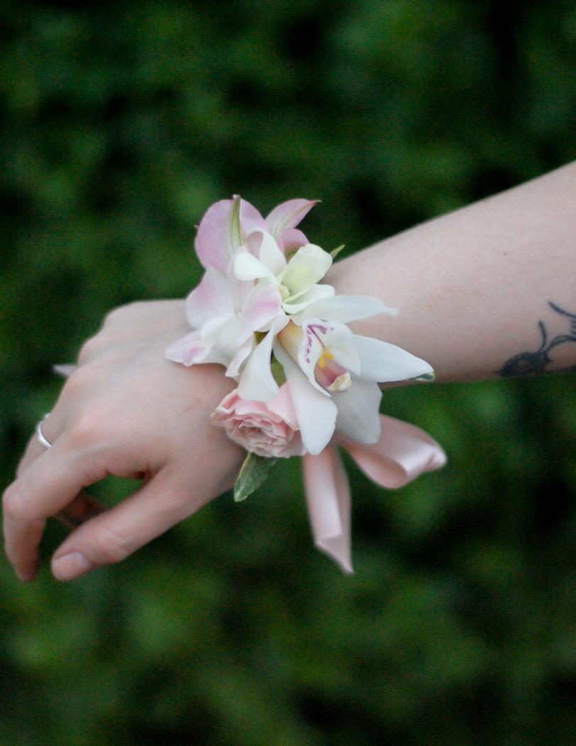 Blush Pink Corsage-1