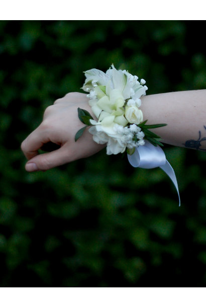 Soft White Corsage