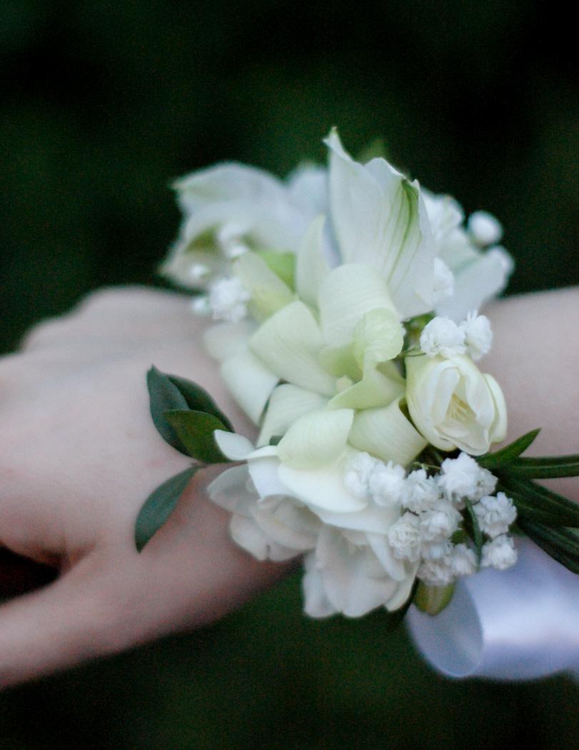Soft White Corsage-2
