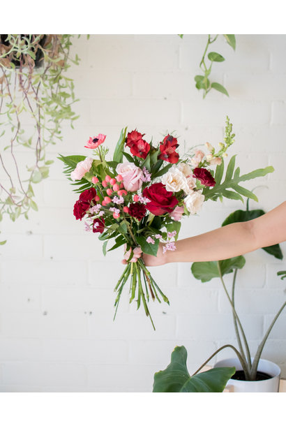 Queen of Hearts - Small Wrapped Bouquet