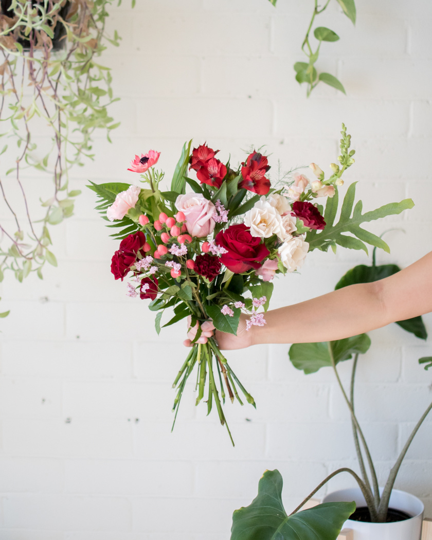 Queen of Hearts - Small Wrapped Bouquet-1