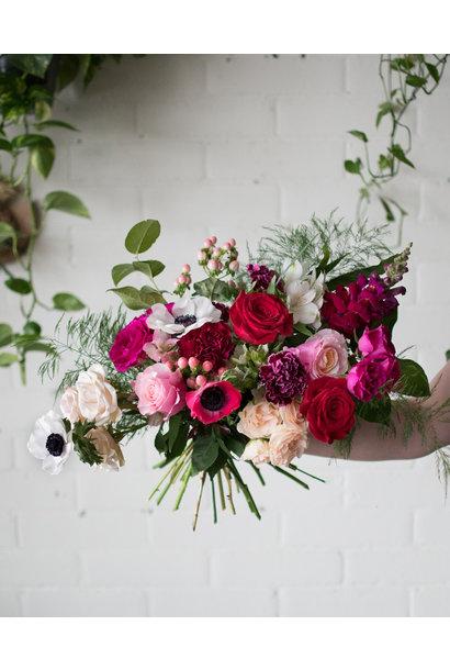 Berry Cherry - Medium Wrapped Bouquet