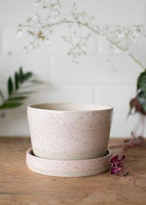 Studio Laroche Planter & Saucer - Pepper Pink