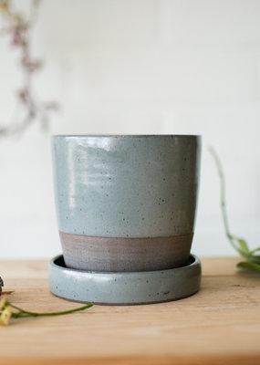 Studio Laroche Planter & Saucer - Dark Eucalyptus