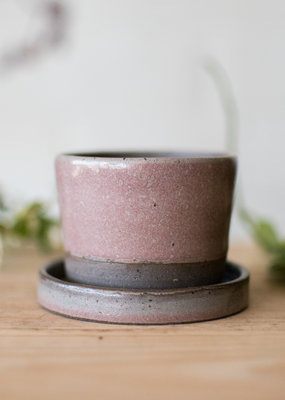Planter & Saucer - Toasted Sage