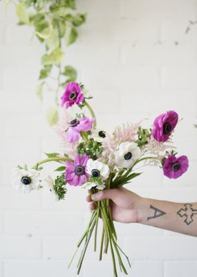 The A Team  - Anemone & Astilbe Bouquet