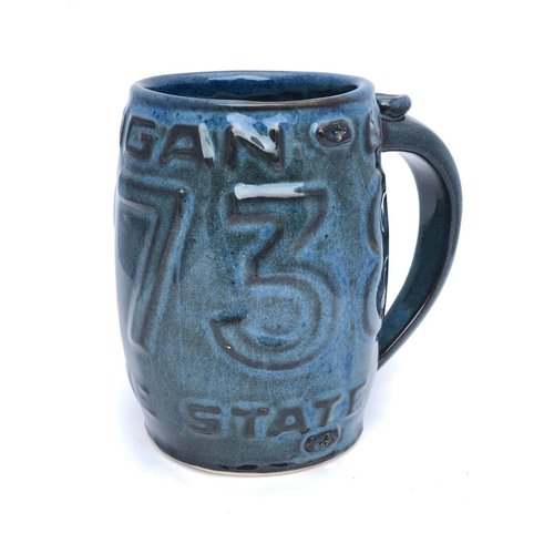 Tall License Plate Mug