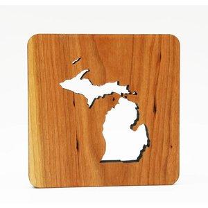 Wooden Michigan Trivet