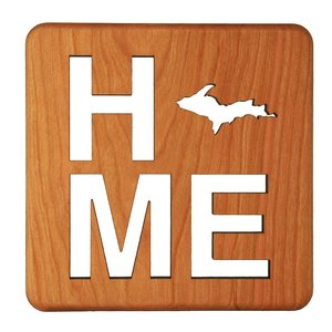 Wooden Home MI Trivet