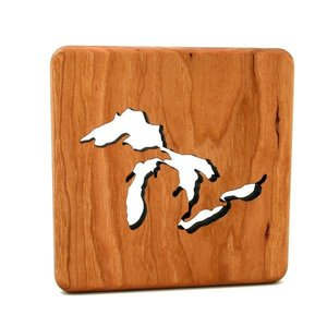 Wooden Great Lakes Trivet