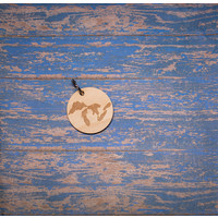 Laser Etched Wood Keychain -  Great Lakes Circle
