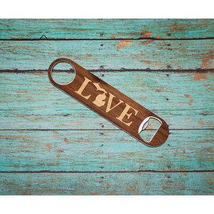 Long Wooden Opener - Love