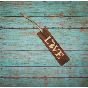 Wooden Enclosed Bookmark - Love