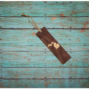 Wooden Enclosed Bookmark - Michigan