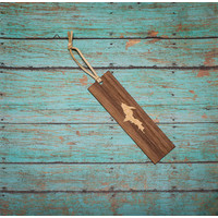 Wooden Enclosed Bookmark - UP
