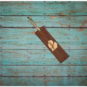Wooden Enclosed Bookmark - UP Inside LP
