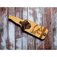 Bottle Shaped Opener -  Great Lakes Waves
