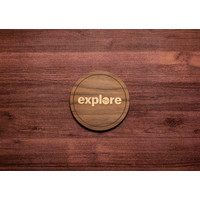Wooden Explore Inlay Coaster