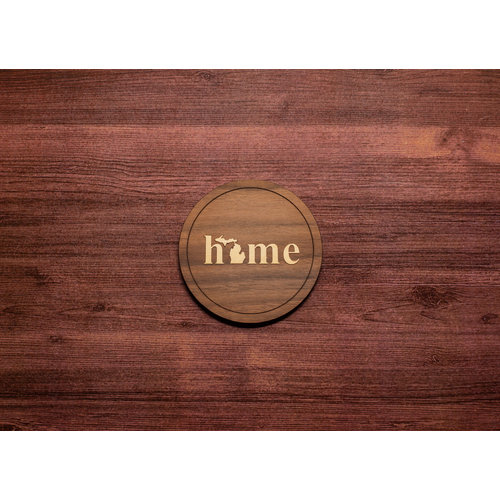 Wooden Home Inlay Coaster