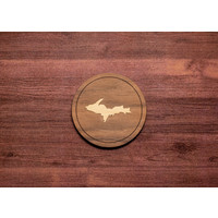Wooden UP Inlay Coaster
