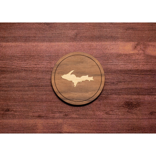 Wooden UP Inlay Coaster