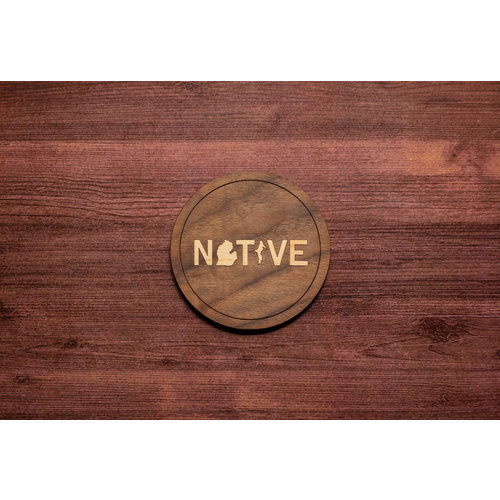 Wooden Native Inlay Coaster