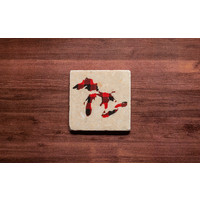 Red Plaid Great Lakes Coaster