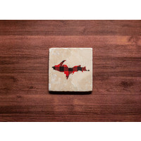 UP Red Plaid Coaster