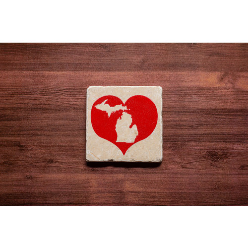 Heart MI Coaster