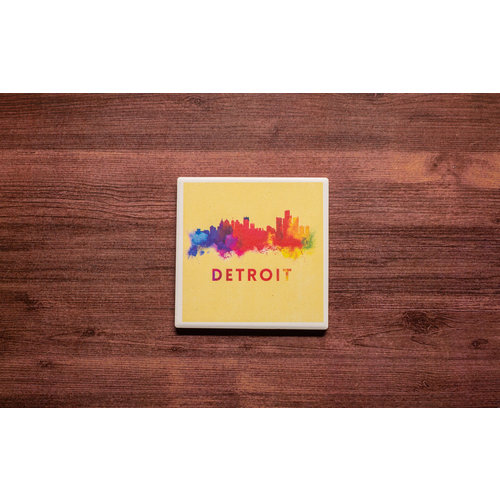 Detroit Watercolor Coaster