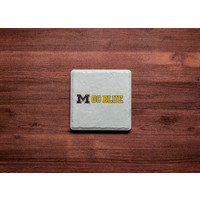 M Go Blue Coaster