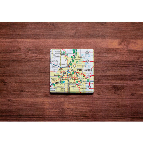 Grand Rapids Map Coaster