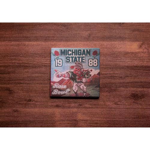 Michigan State Rose Bowl Coaster