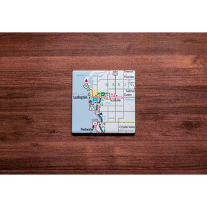 Ludington Map Coaster